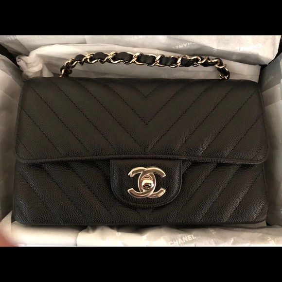 37c1989671df74 CHANEL Bags | Soldbnib Auth Chevron Mini Rectangular | Poshmark